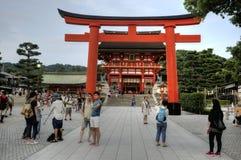 Fushimi Inari Taisha, Main Hall, Japan Royalty Free Stock Photos