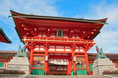 Fushimi Inari Taisha relikskrin Royaltyfri Fotografi