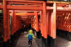 Fushimi Inari Taisha relikskrin Arkivfoto