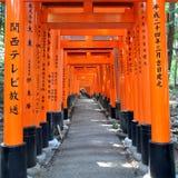 Fushimi Inari Taisha relikskrin i Kyoto, Japan Fotografering för Bildbyråer
