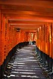 Fushimi Inari Taisha relikskrin i Kyoto, Japan Royaltyfri Fotografi