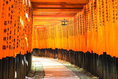 Fushimi Inari Taisha shintorelikskrin. Fushimi ku, Kyoto, Japan. Arkivbilder