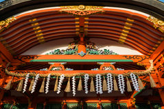 Fushimi Inari Taisha Shrine. Close up hall of Fushimi Inari shrine. Fushimi Inari Taisha is the head shrine of Inari, located in Fushimi-ku, Kyoto, Japan Stock Image
