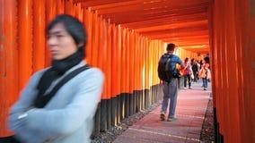 Fushimi Inari Taisha Shrine in Kyoto, Japan stock footage
