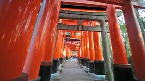 Fushimi Inari Taisha Shrine in Kyoto, Japan stock video