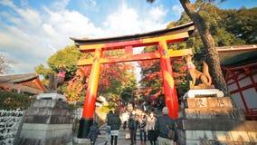 Fushimi Inari Taisha Shrine in Kyoto, Japan stock video footage