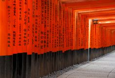 Fushimi Inari Taisha Shrine in Kyoto, Japan Stock Image