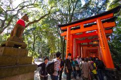 Fushimi Inari Taisha Shrine, Kyoto, Japan Stock Images