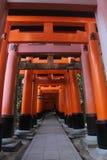 Fushimi Inari Taisha Shrine torii gates in Kyoto, Japan. Stock Image