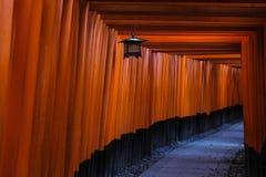 Fushimi Inari Taisha Shrine torii gates in Kyoto, Japan. Stock Photos