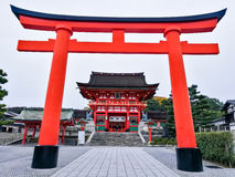 Fushimi Inari-taisha temple. In Kyoto, Japan. Here is one of the most famous landmarks in Kyoto Stock Photo