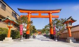 Fushimi Inari tempel, Kyoto, Japan Arkivbild