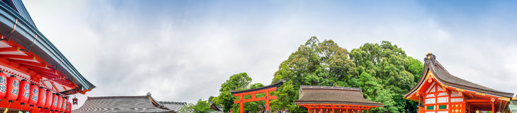 Fushimi Inari Temple in Kyoto, panoramic view - Japan Stock Image