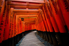 Fushimi Inari torii门 库存照片