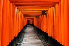 Fushimi Inari torii gate, Kyoto. Path of torii gate leading to the endless destination at Fushimi Inari, Kyoto landmark, Japan Stock Images