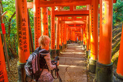 Fushimi Inari travel photographer Royalty Free Stock Photography