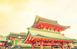 Fushimiinari Taisha ShrineTemple στο Κιότο, Ιαπωνία (φιλτραρισμένο ima Στοκ Φωτογραφίες