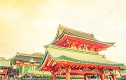 Fushimiinari Taisha ShrineTemple w Kyoto, Japonia (Filtrujący ima Zdjęcia Stock