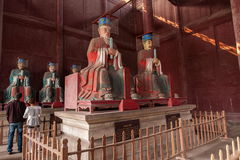 Fushun County, Fushun hall dedicated to Confucius Temple Great statue Stock Photo