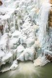 Fusión congelada de la cascada Foto de archivo