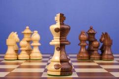 Fusión corporativa del ajedrez Fotografía de archivo