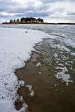 Fusión de la primavera del hielo en el río Obi Fotografía de archivo