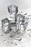 Fusión de los cubos de hielo Fotografía de archivo