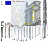 Fusión euro de la nota Imágenes de archivo libres de regalías