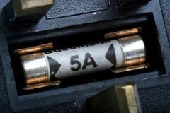 Fusible cinq ampères Photographie stock libre de droits