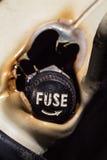 Fusibles électriques endommagés image stock