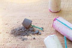 Fusibles de polvo negro y petardo Fotografía de archivo libre de regalías