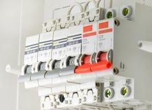 Fusibles eléctricos automáticos Imágenes de archivo libres de regalías