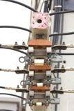 Fusibles y alto voltaje del cable Fotos de archivo libres de regalías