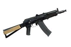 Fusil d'AK (AKS74UN) d'isolement sur le blanc Photographie stock