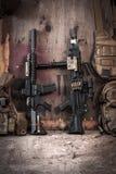 Fusil d'assaut et mitrailleuse Images libres de droits