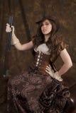 Fusil de chasse brun d'attitude photos stock