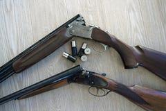 Fusil de chasse et interpréteurs de commandes interactifs Photographie stock