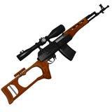 Fusil de tireur isolé de Dragunov Image libre de droits