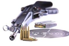 Fusil et remboursements in fine   Images libres de droits