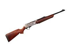 Fusil neuf de chasse avec la gravure image stock