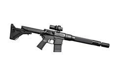 Fusil semi-automatique d'assaut images libres de droits