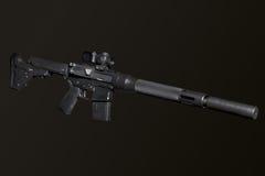 Fusil semi-automatique d'assaut image libre de droits