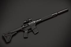 Fusil semi-automatique d'assaut photo libre de droits