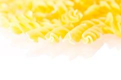 Fusili pasta extreme close up Royalty Free Stock Images