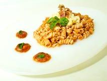 Fusili Pasta with Tomato Sauce Royalty Free Stock Photo