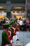 Fusiliers du 18ème siècle du Habsbourg Photo stock
