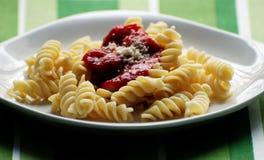 fusilli意大利面食 库存图片