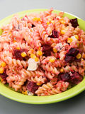 Fusilli with blue cheese Stock Photo
