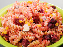 Fusilli with blue cheese Stock Image