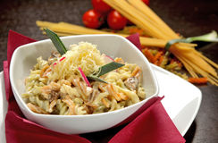 Fusilli  with cheese Royalty Free Stock Photos
